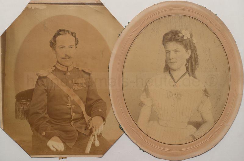 Das Ehepaar Schaefer am 05. Juli 1877, dem Hochzeitstag, ein Jahr später starb Marie Schaefer, Foto Stadtarchiv Herne