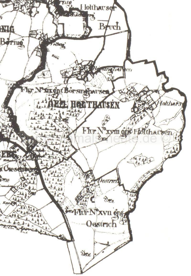 Die Gemeinde Holthausen im Jahr 1827.
