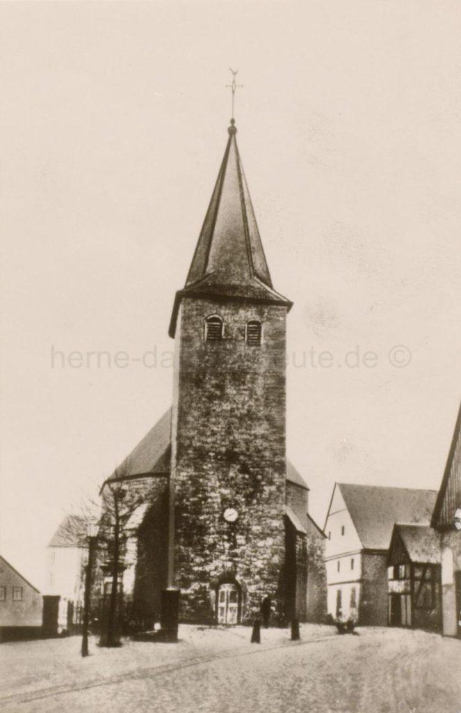 Die alte Johanneskirche auf dem Eickeler Markt, Foto Stadtarchiv Herne