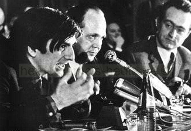 Dutschke stellt seine Ideen und politischen Visionen vor, Foto Norbert Kozicki, 1968