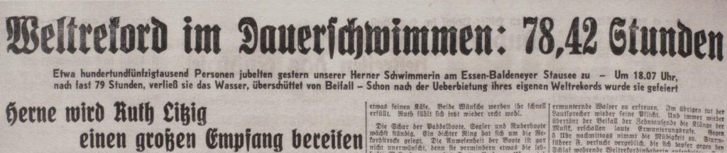 Herner Zeitung, 22.08.1933, Foto Archiv Piorr