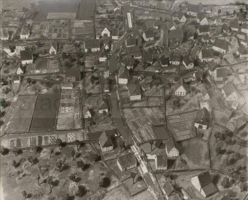 Modell des alten Dorfes Herne, Foto Stadtarchiv Herne