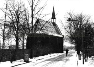 Schloss-Strünkede-Kapelle im Winter, 1960er Jahre, Foto Robert Grabski