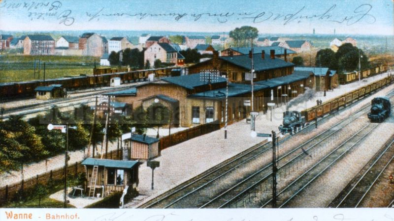 Alter Bahnhof, um 1910, Foto Stadtarchiv Herne