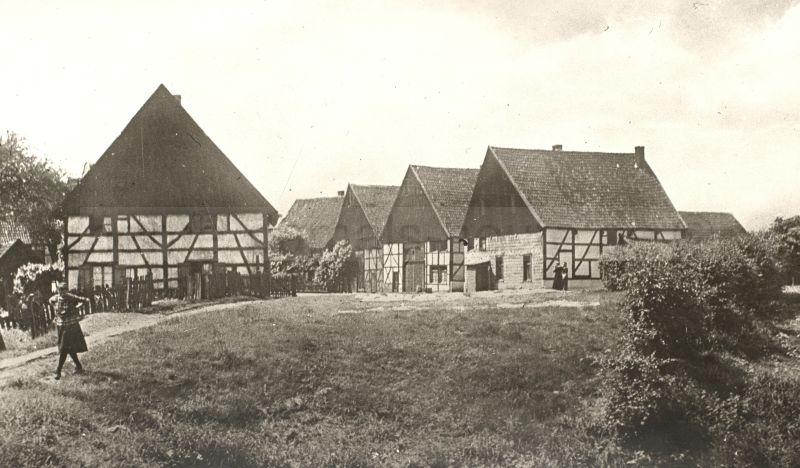 Dorf Crange, um 1929, Foto Stadtarchiv Herne