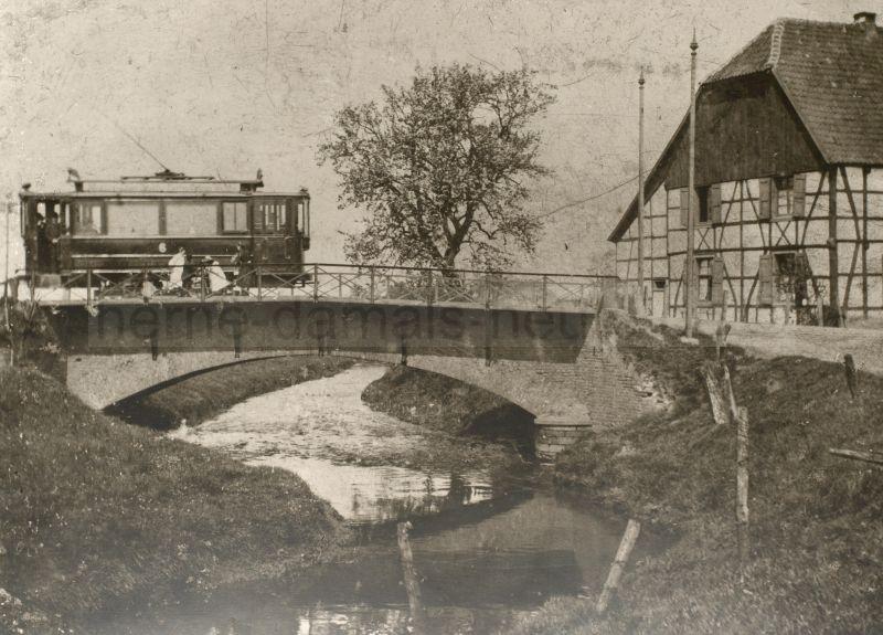 Elektrische Bahn, um 1901, Foto Stadtarchiv Herne