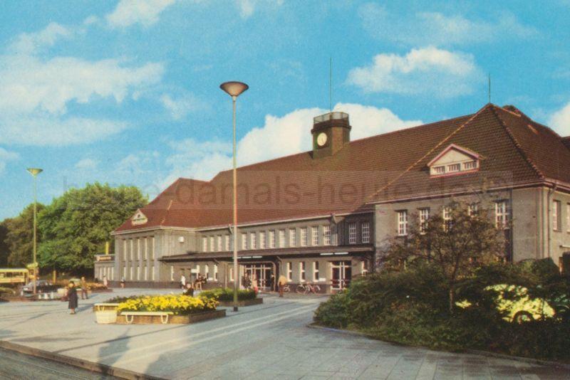 Hauptbahnhof und Vorplatz vor der Umgestaltung, Foto Stadtarchiv Herne