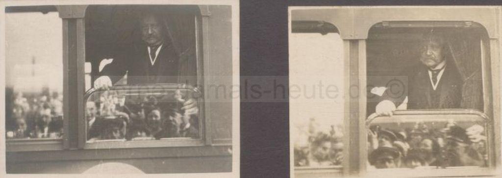 Hindenburg auf dem Bahnhof Wanne, 19.09.1925, Foto Stadtarchiv Herne