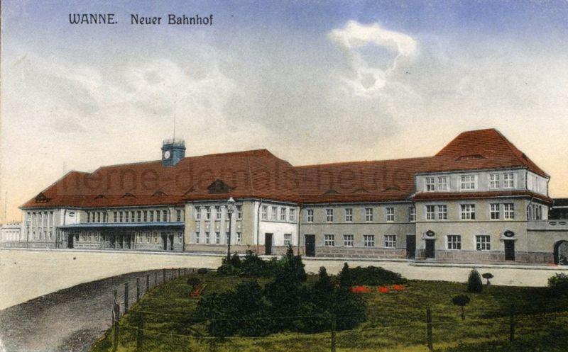 Neuer Bahnhof, 1913, Foto Stadtarchiv Herne