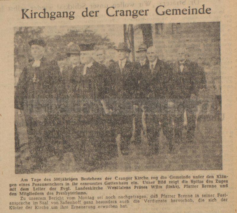 Ruhr-Nachrichten, Ausgabe Wanne-Eickel, 03.08.1949, Repro Stadtarchiv Herne
