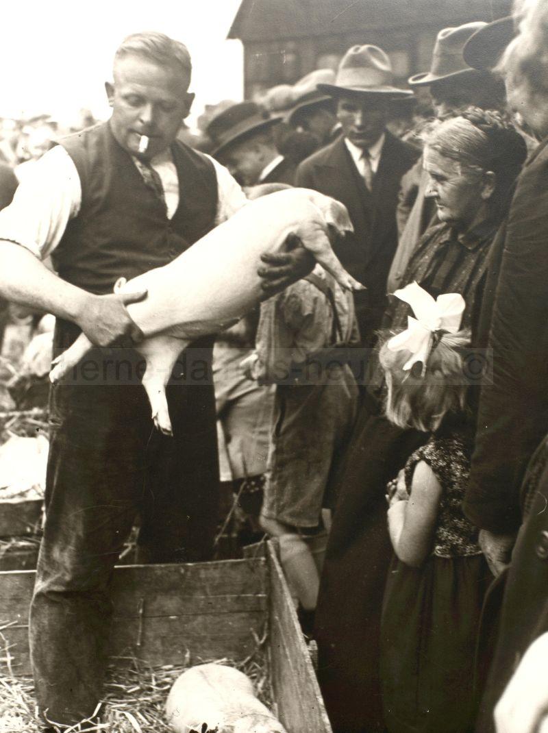 Schweinemarkt, 1925, Foto Stadtarchiv Herne