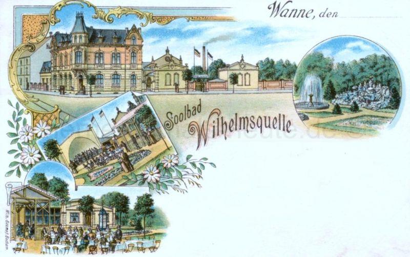 Soolbad, Wilhelmsquelle, um 1905, Foto Stadtarchiv Herne