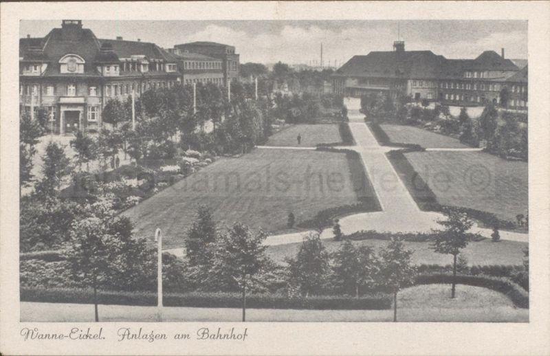 Wanne-Eickel Anlagen am Bahnhof, Foto Stadtarchiv Herne