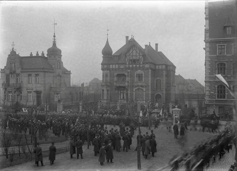 Trauermarsch für Amtmann Winter, 02.03.1913, Foto Stadtarchiv Herne