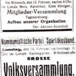 Versammlungsaufrufe der Kommunistischen Partei, Repro Norbert Kozicki