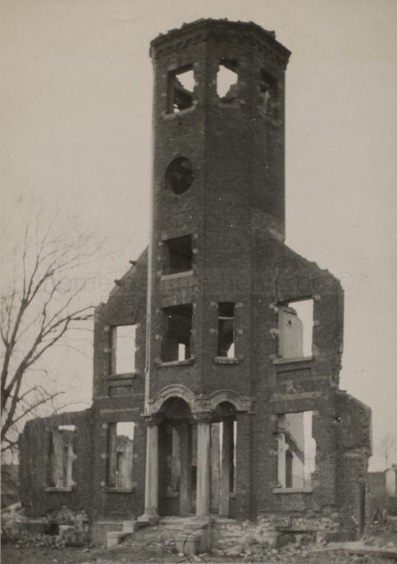 Dorneburg nach der Zerstörung, Foto Stadtarchiv Herne