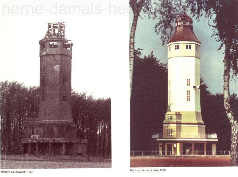 Vor und nach der Restaurierung, Repro Stadtarchiv Herne