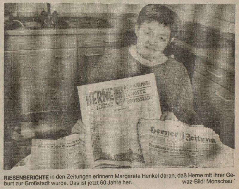 WAZ vom 13. März 1993, Repro Stadtarchiv Herne