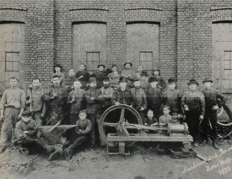 Belegschaft der Firma Beien, 1893, Foto Stadtarchiv Herne