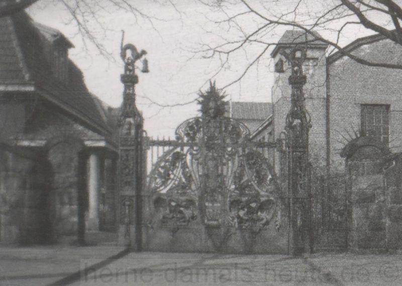 Das Flottmann-Tor an seinem ursprünglichen Standort, Repro Stadtarchiv Herne