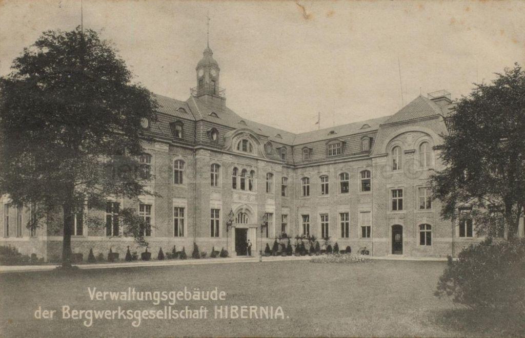 Das Herner Verwaltungsgebäude der Bergwerksgesellschaft Hibernia, 1906, Repro Stadtarchiv Herne