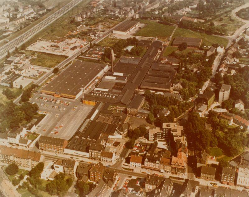 Das Schraubenwerk Dorn in der Bildmitte, 1977, Repro Stadtarchiv Herne