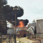 Der Großbrand am 5. und 6. August 1984 bei den Chemischen Werken Hüls an der Shamrockstraße. Sammlung Stefan Kuhn