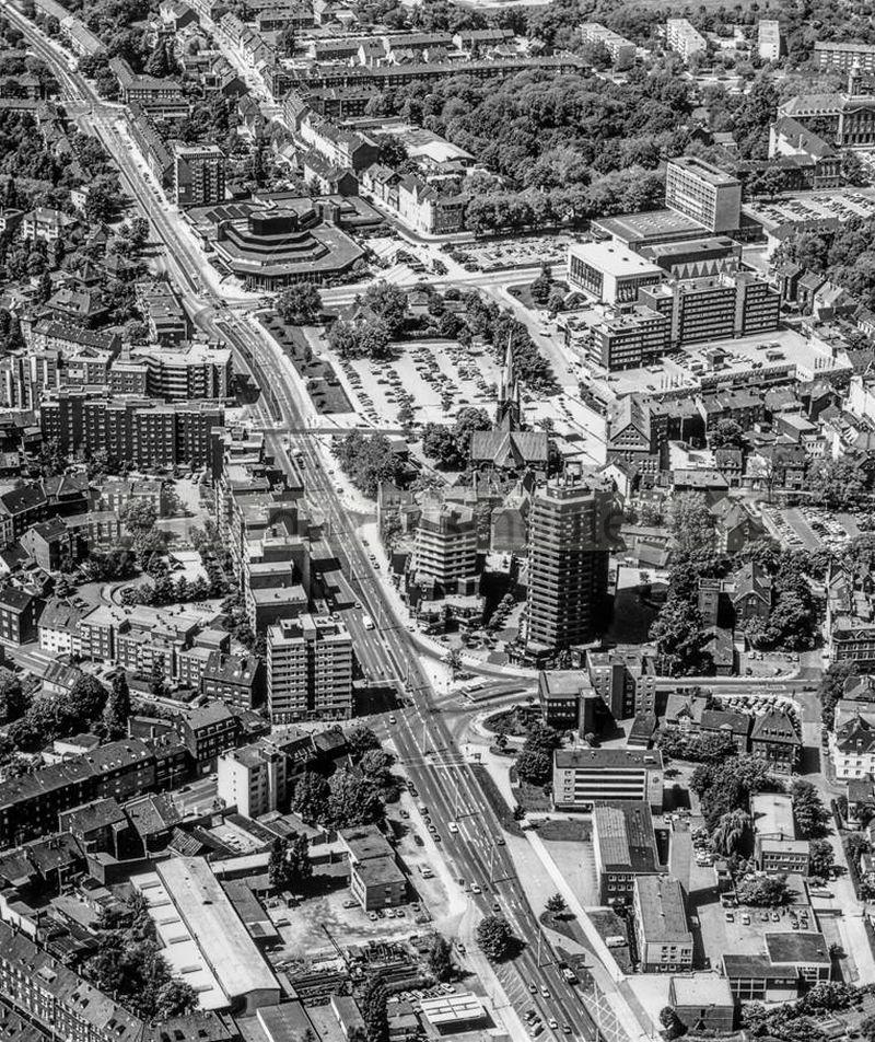 Der Herner Stadtkern nach der Erneuerung, Foto Bildarchiv Herne