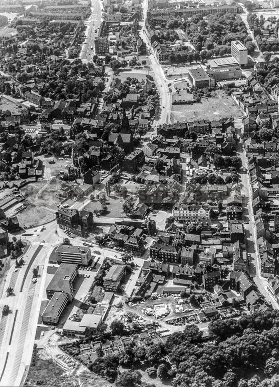 Der Herner Stadtkern vor der Erneuerung, Foto Bildarchiv Herne
