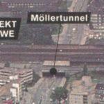 Der 'neue' Möllertunnel, heute nur noch als Bahnunterführung bezeichnet, Ausschnitt aus der Broschüre 'Richtungsweisend - Hernes Stadtkernentwicklung', Repro Stadtarchiv Herne