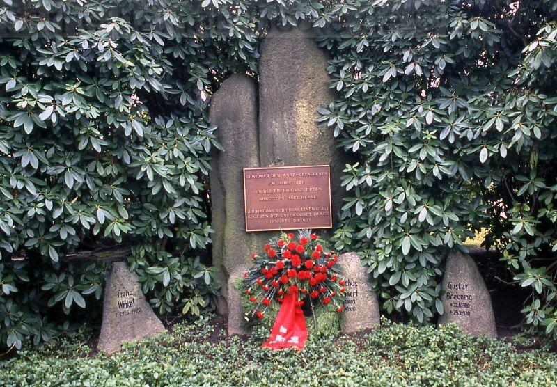 Kapp-Putsch-Denkmal auf dem Südfriedhof, 2008, Foto Stadtarchiv Herne