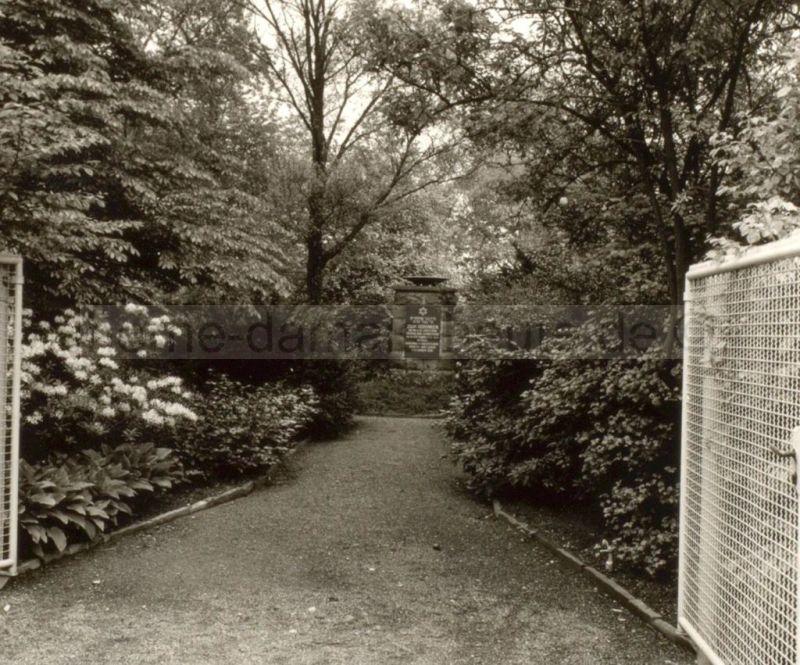 Monument auf dem jüdischen Friedhof in Baukau, Foto Stadtarchiv Herne