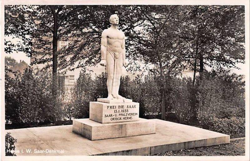Saardenkmal in Herne, Postkarte, Repro Stadtarchiv Herne