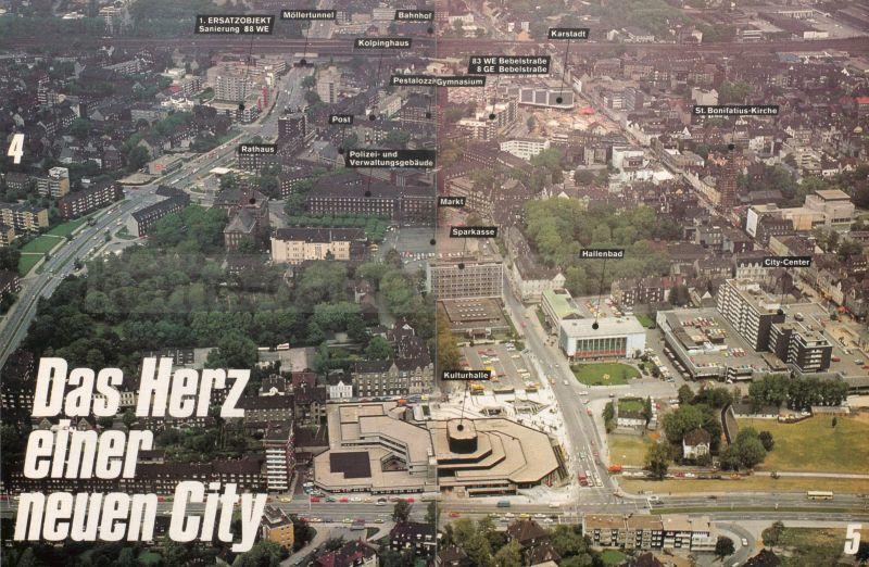 Stadtzentrum 1976, aus 'Richtungsweisend - HERNE Stadtkernentwicklung', Repro Stadtarchiv Herne