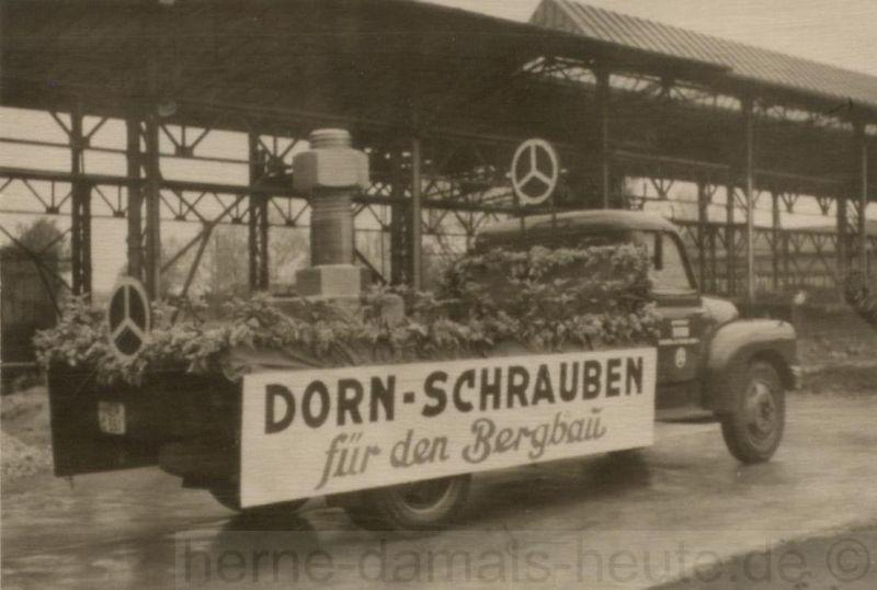 Werbung für das Schraubenwerk Dorn, um 1960, Repro Stadtarchiv Herne