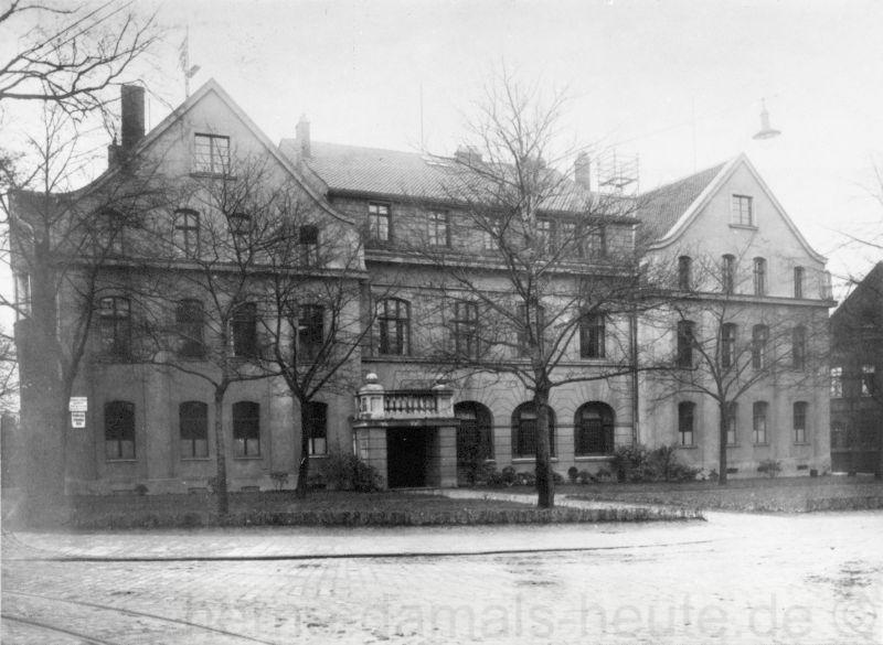 Das Verwaltungsgebäude vor dem Zweiten Weltkrieg, Repro Stadtarchiv Herne