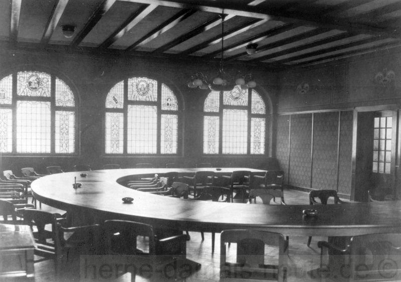 Der Sitzungssaal, 1925, Repro Stadtarchiv Herne