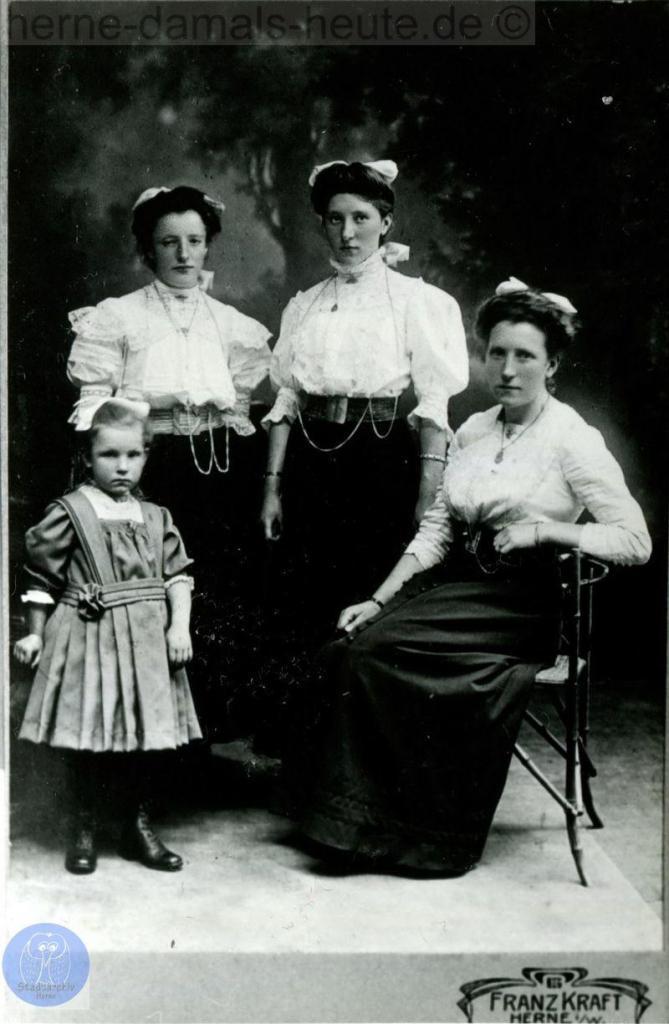 Gruppenbild Geschwister Lackmann, Repro Gerd Biedermann