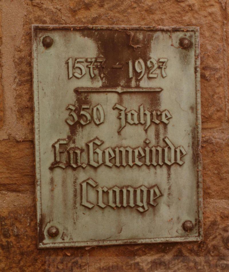 Hinweistafel auf 350 Jahre Reformation in Crange, Foto Stadtarchiv Herne