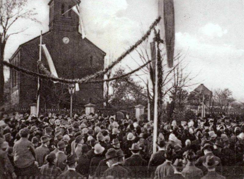 Kundgebung bei der 350-Jahrfeier der Gemeinde Crange am 30. Oktober 1927, Repro Stadtarchiv Herne