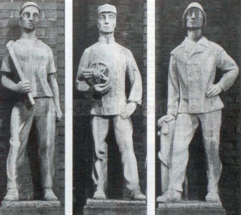 Die drei Männer: Bergmann, Eisenbahner, Schiffer, Repro Stadtarchiv Herne