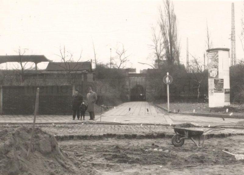 Möllertunnel, Ansicht Nordseite (Bahnhofsplatz), 1968, Foto Stadtarchiv Herne
