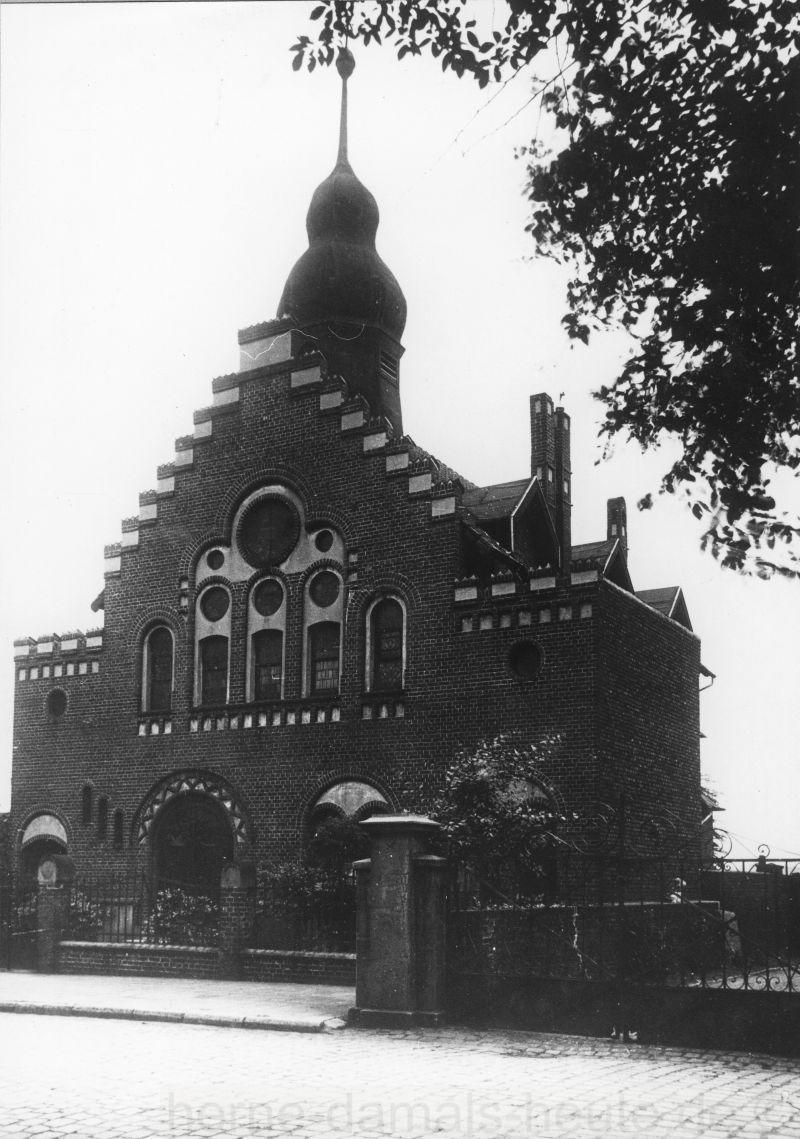 Synagoge Wanne-Eickel an der Langekampstraße, Foto Stadtarchiv Herne