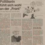 Christel Mannke und ihr Amt, WAZ vom 28.12.1996, Repro Stadtarchiv Herne