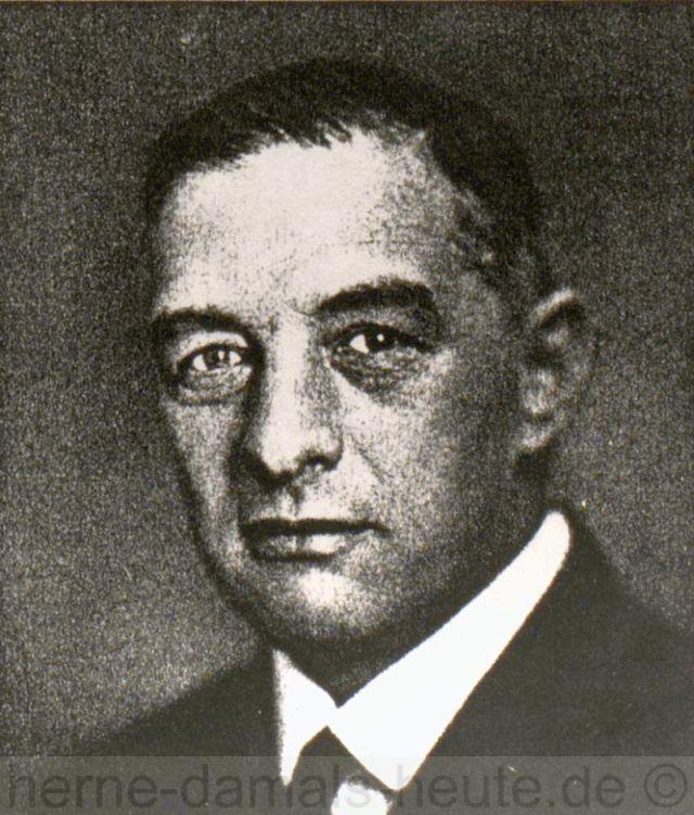 Ewald Hecker, Repräsentant der Gewerkschaft Friedrich der Große, Repro Stadtarchiv Herne