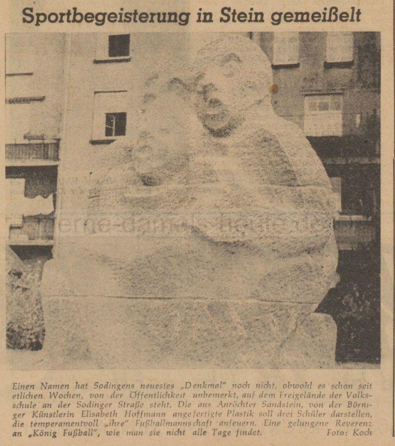 Herner Zeitung vom 03.10.1958, Repro Stadtarchiv Herne
