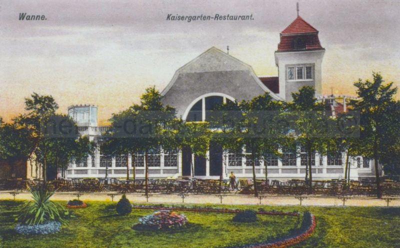 Kaisergartensaal, Postkarte, um 1912, Repro Stadtarchiv Herne