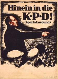 Plakat 'Hinein in die KPD! (Spartakusbund), Repro Norbert Kozicki