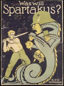 Plakat 'Was will Spartakus', Repro Norbert Kozicki