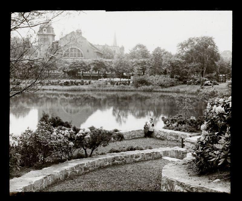 Saalbau und Stadtgarten, um 1925, Foto Stadtarchiv Herne